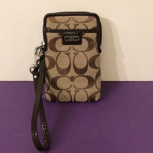 Coach credit card holder / wrist strap 5 1/2 x 3
